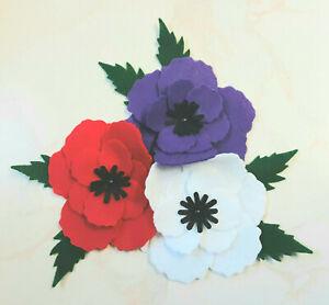 DIY Die Cut Felt Poppy Kit, Make your Own Brooch, Bunting, Display,
