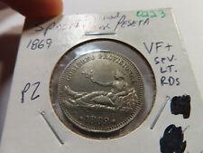 O223 Spain 1869 Peseta VF+