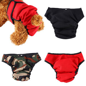 FT- Pet Female Dog Physiological Pants Diaper Underwear Washable Sanitary Pantie