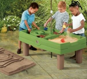 Sand Box Table Cover Playful Activity center Outdoor Toys Step2 Naturally