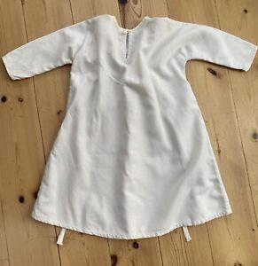 Vintage Baby's Nightdress / Nightgown   100% Cotton   Handmade Mid 1970s