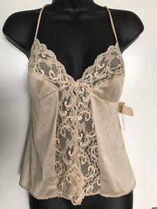VTG 70s MAIDENFORM Dreamwear NOS CAMI TANK Top Nightie Camisole Lace Sz S ILGWU