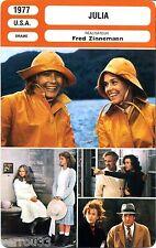 Fiche cinéma. Movie Card. Julia  (U.S.A.) Fred Zinnemann 1977