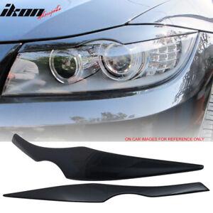 Fits 06-11 BMW 3 Series E90 Headlight Eyelid Painted #A35 Monaco Blue Metallic