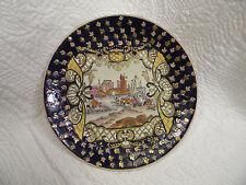 Vintage Handpainted Oriental Village Decorative Plate Raised in Places,Excellent