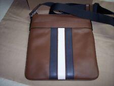 Coach Men's Charles Crossbody With Varsity Stripe Saddle Leather Bag F23216 $295