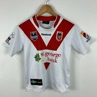 St George Illawara Rugby Jersey Youth Medium (8-10 years) Reebok Made In Aus