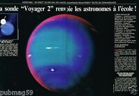 Coupure de Presse Clipping 1989 (4 pages) La Sonde Voyager 2