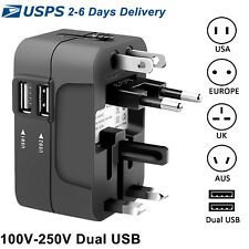 Travel Plug Adapter European Outlet International Universal Power  EU US UK AU