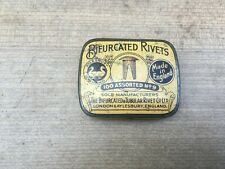 More details for vintage, bifuricated rivets, london england tin,collectable,