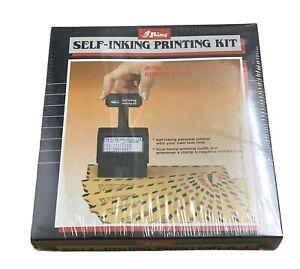 Shiny | Self-inking Printing Kit | S-600 | Printing Stamp, Pad, Tweezers & Ink