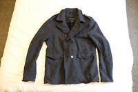*RRP £350 *Mens ALLSAINTS Winter Coat *Peacoat Overcoat in GREY *Size XL