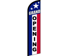 GRAND OPENING Windless Full Curve Top Advertising Banner Feather Swooper Flutter
