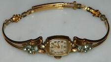Vintage Deco 1930's? ELGIN DeLuxe Ladies faux Diamond 10K GF Watch Not Working