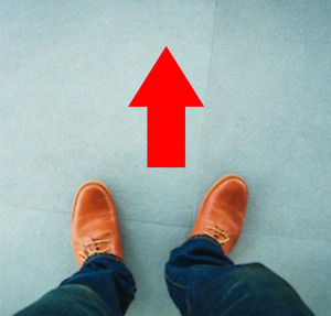 Social Distancing Arrow Floor Vinyl Decal Sticker