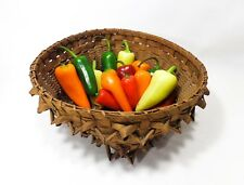 EARLY 20TH C NATIVE AMERICAN MICMAC, SWEET GRASS PORCUPINE BASKET, PENOBSCOT, ME