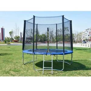 PP 8FT Trampoline Kids Adults with Enclosure Net Indoor Outdoor Trampoline C