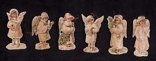 Vtg Merrimack Victorian Snow Angel Girls Cardboard Die Cut Christmas Ornaments