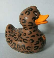 FAB FUN BUD DESIGNER *LUSH DUCK* NOVELTY PATTERNED RUBBER DUCK ORNAMENT