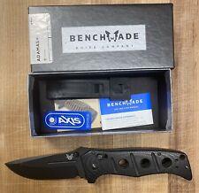 New listing Benchmade Adamas 275Bk D2 Manual Open Black Class Folding Knife