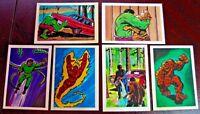 L'Incroyable Incredible Hulk 6 Rare French Stickers 1981 Panini (EX-NM)