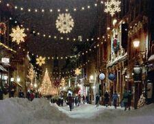 Leuchtbild Einkaufsstrass Batteriebetrieb Wandbild Weihnachten LED Bild Advent