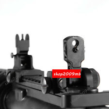 Iron Flip Up Front&Rear BUIS QD Attach Floding Backup Sight For Rifle Hunting