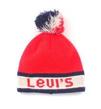 Vintage Levi's Touque with Pompon  Pom Pom Winter Knit Hat Tuque 1970's
