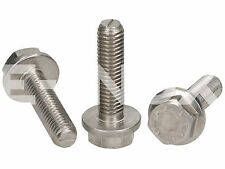 M5x25 A2 STAINLESS STEEL HEX FLANGE BOLTS SCREWS DIN6921 METRIC THREAD 10-PIECES