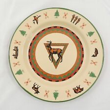 """Lodge by Midwest of Cannon Falls Enamelware Dinner Plate 10 1/2"""" Deer"""