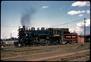138-11 Colour Slide Canadian Pacific 4-6-2 Steam Locomotive #2230