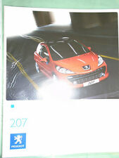 Peugeot 207 range brochure Aug 2007