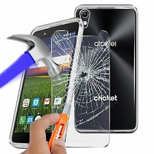 "For Alcatel Idol 4 (5.2"") - Ultra Thin Clear TPU Gel Skin Case Cover & Glass"