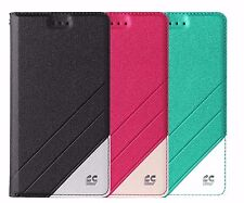 For HTC Desire 555 Cricket PU Leather 2 Tone Folio Wallet ID Diary Pouch Case