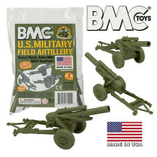 BMC Marx Recast Battleground HOWITZERS OD Green Plastic Army Men Field Artillery