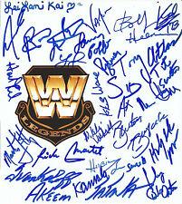 Wwe Legends 28x Signed 8x7 Photo w/ Bobby Heenan Vader Sid Lex Luger Rick Martel