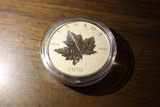 🍁🍁 2010 CANADA $5 PIEDFORT 9999 FINE SILVER MAPLE LEAF REVERSE PROOF