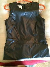 Patrizia Pepe Black Nylon Sleeveless Top With Zipper Nwt Size 40 Or US 2/4