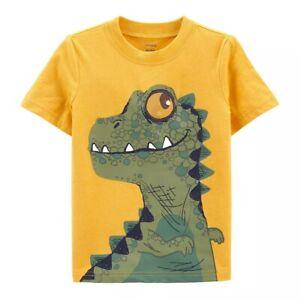 Carter's Toddler Boy Size 4T Dinosaur Tee Shirt Top w/ Holographic Moving Eye