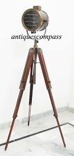 VINTAGE INDUSTRIAL STYLE MOVIE SPOT LIGHT FLOOR STANDING TRIPOD LAMP