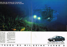 PUBLICITE ADVERTISING 045  1991  CITROEN BX  MILLESSIME TURBO ( 2p) 2