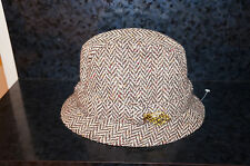 Size 7 1/2 60 DONEGAL Feather TWEED HAT OF IRELAND CASTLEBAR Vintage Wool 51