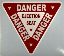 Ejection Seat Warning Decal Aviation Dec-0130