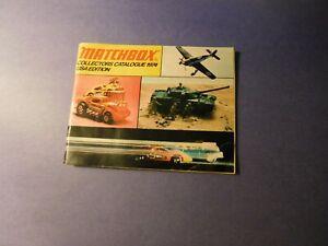1974 Matchbox Collectors Catalogue USA Edition