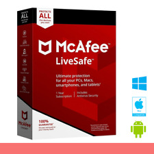 McAfee LIVESAFE 2020 UNLIMITED DEVICE PC/MAC1YEAR FULL VERSION WORLDWIDE