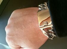 """Stainless Steel 316L Bracelet Link 8.5""""  125 grams 20mm Heavy and Thick E758"""