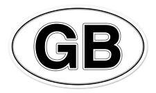 "GB Great Britain Oval car window bumper sticker decal 5"" x 3"""