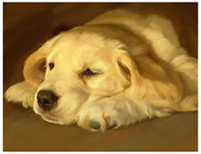 artav Golden Retriever 07 Art Print Dog Puppy Painting