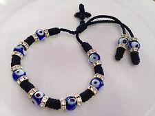 Blue bracelet for protection and good luck away the evil eye handmade