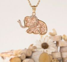 Gold Elephant necklace, 14k solid yellow gold pendant, jewelry